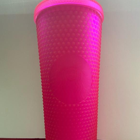 Pink studded Starbucks tumbler